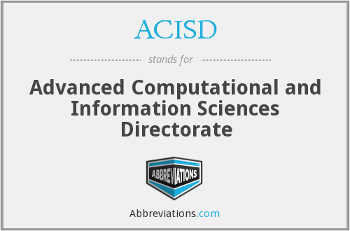 What does ACISD stand for?