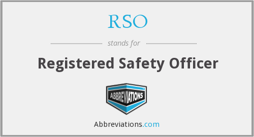 RSO - Registered Safety Officer