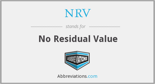 NRV - No Residual Value