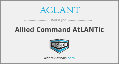 What does ACLANT stand for?