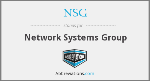NSG - Network Systems Group