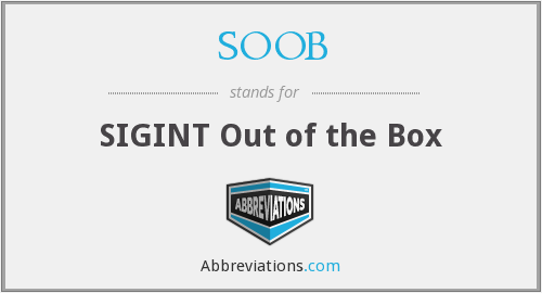What does SOOB stand for?