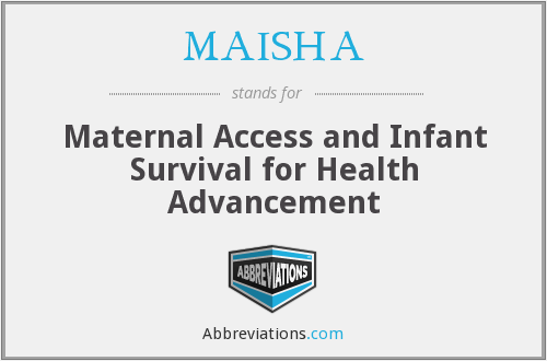 What does MAISHA stand for?