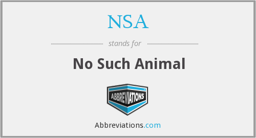 NSA - No Such Animal