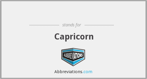What does Capricorn stand for?