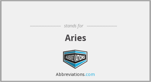 What does Aries stand for?