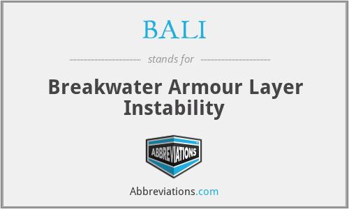 BALI - Breakwater Armour Layer Instability