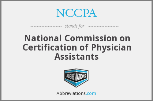 What does NCCPA stand for?