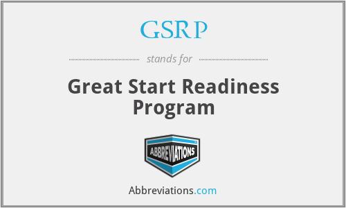 GSRP - Great Start Readiness Program