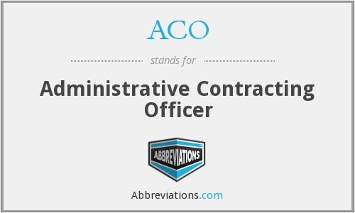 What does ACO stand for?