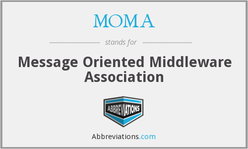 MOMA - Message Oriented Middleware Association