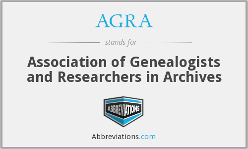 AGRA - Association of Genealogists and Researchers in Archives