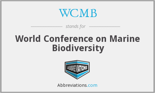 WCMB - World Conference on Marine Biodiversity