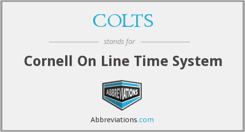 COLTS - Cornell On Line Time System