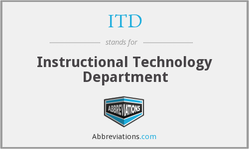 What Is The Abbreviation For Instructional Technology Department