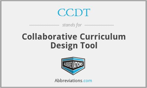 CCDT - Collaborative Curriculum Design Tool