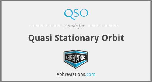 QSO - Quasi Stationary Orbit