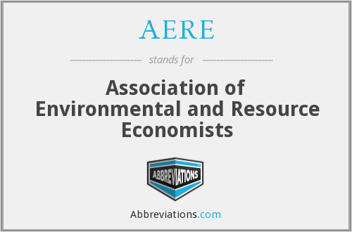 AERE - Association of Environmental and Resource Economists