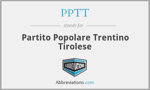 PPTT - Partito Popolare Trentino Tirolese