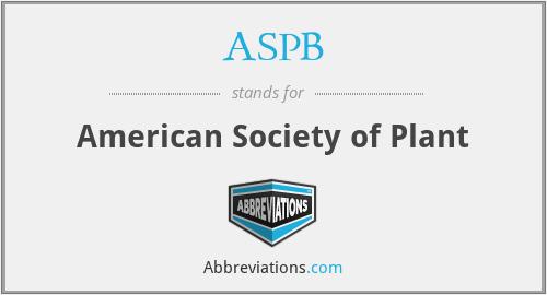 ASPB - American Society of Plant