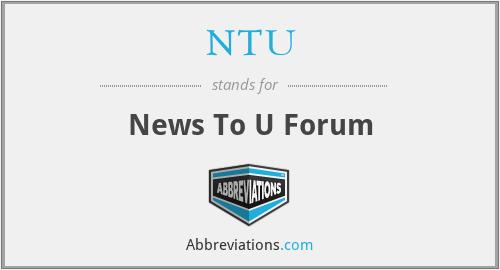 NTU - News To U Forum