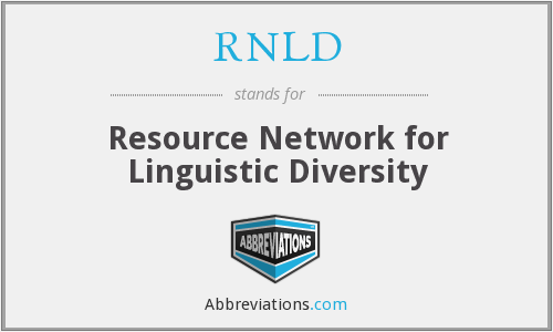 RNLD - Resource Network for Linguistic Diversity