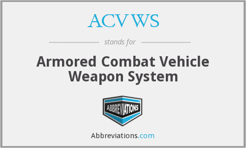 What does ACVWS stand for?