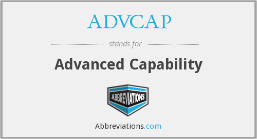 What does ADVCAP stand for?