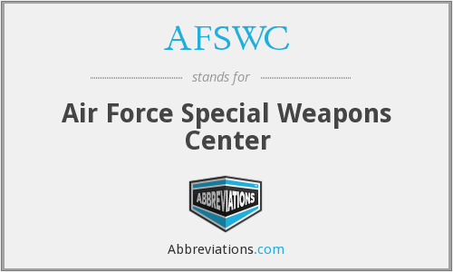 What does AFSWC stand for?