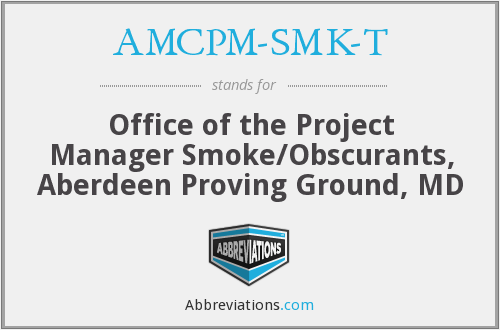 What does AMCPM-SMK-T stand for?