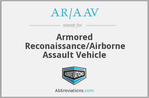 What does AR/AAV stand for?