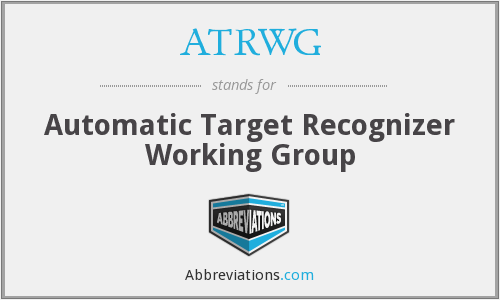 What does ATRWG stand for?