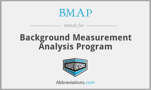 BMAP - Background Measurement Analysis Program
