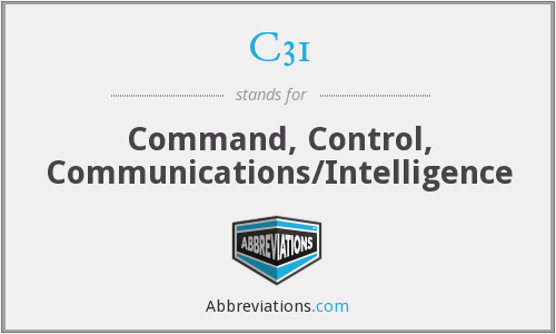 What does C31 stand for?