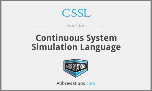CSSL - Continuous System Simulation Language