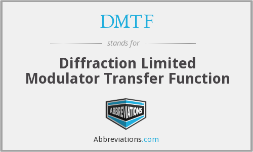DMTF - Diffraction Limited Modulator Transfer Function