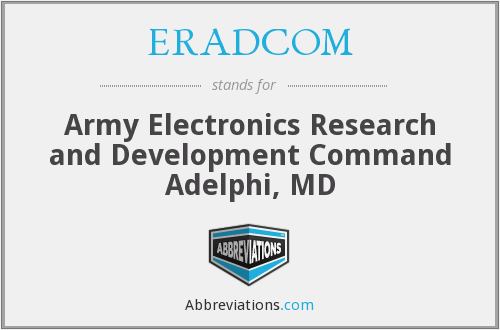 What does ERADCOM stand for?