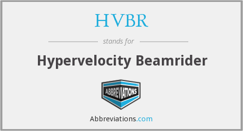 What does HVBR stand for?