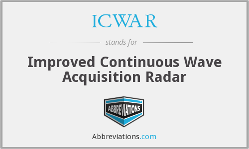 What does ICWAR stand for?