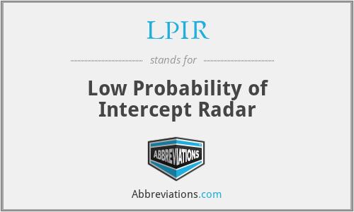 LPIR - Low Probability of Intercept Radar