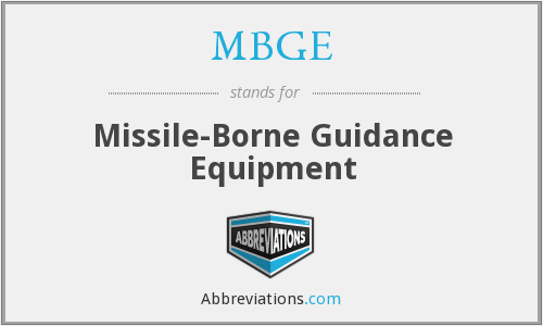 What does MBGE stand for?