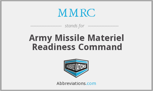 MMRC - Army Missile Materiel Readiness Command