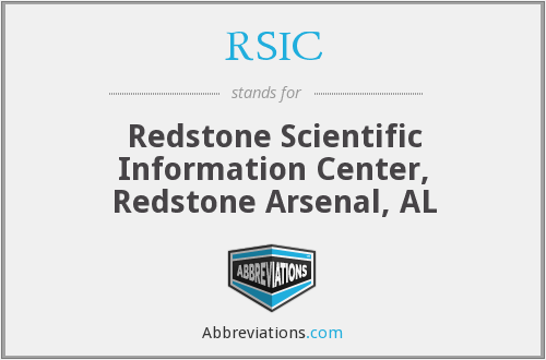 What does RSIC stand for?
