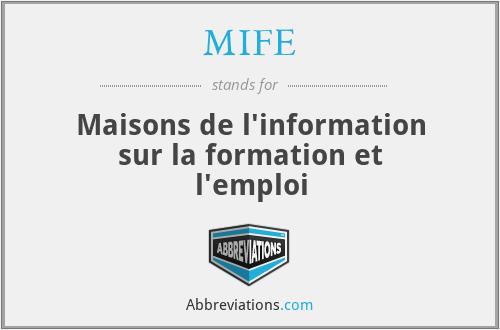 MIFE - Maisons de l'information sur la formation et l'emploi