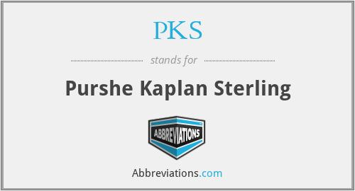 PKS - Purshe Kaplan Sterling