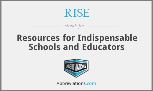 RISE - Resources for Indispensable Schools and Educators