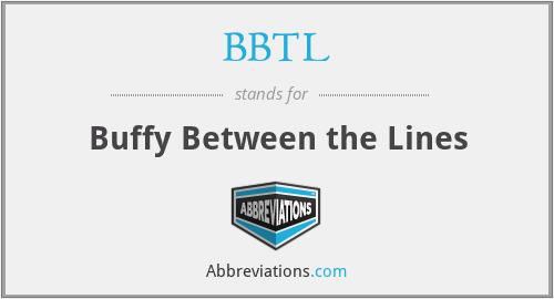 BBTL - Buffy Between the Lines