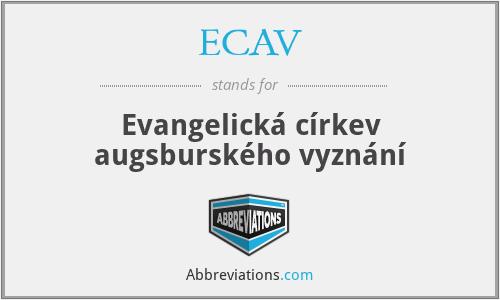 ECAV - Evangelická církev augsburského vyznání