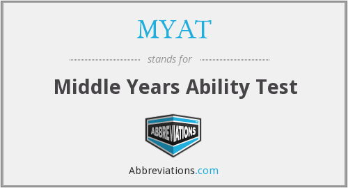 MYAT - Middle Years Ability Test