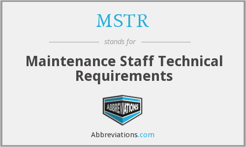 What does MSTR stand for?